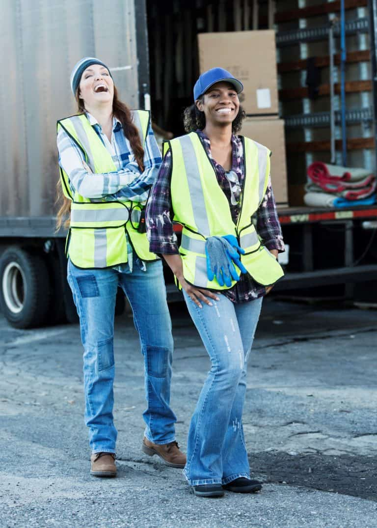 Driver Retention two CDL drivers enjoying a laugh